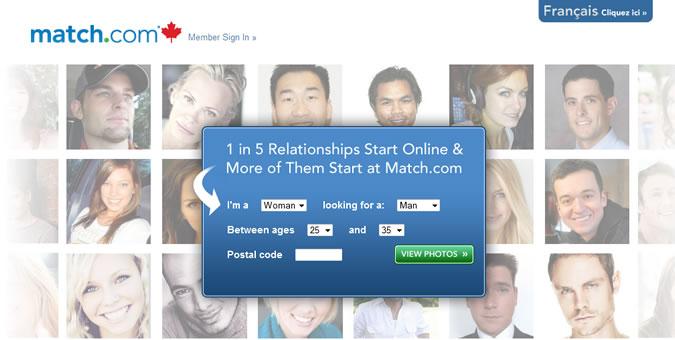 Match.com Homepage