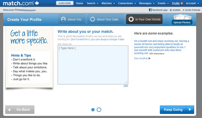 Match.com - Who you are and who you're looking to meet