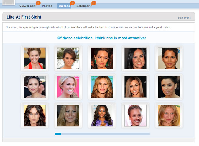 Match.com Quiz - Attractive faces