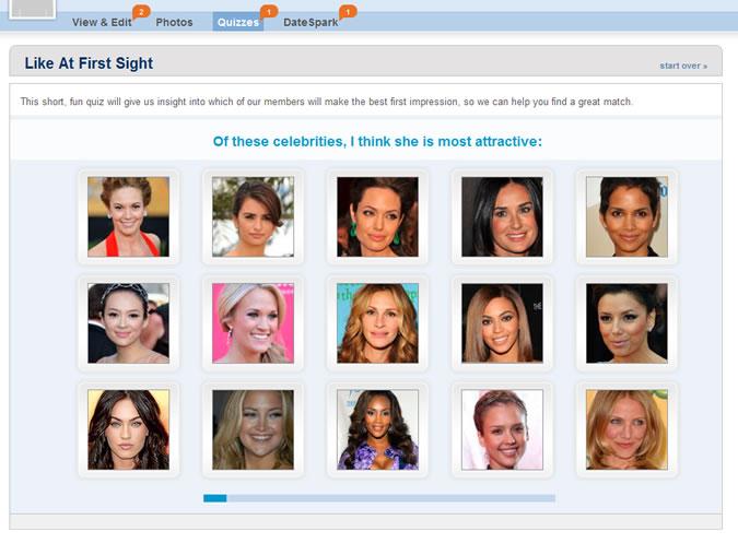 Match.com Quiz - Attractive faces