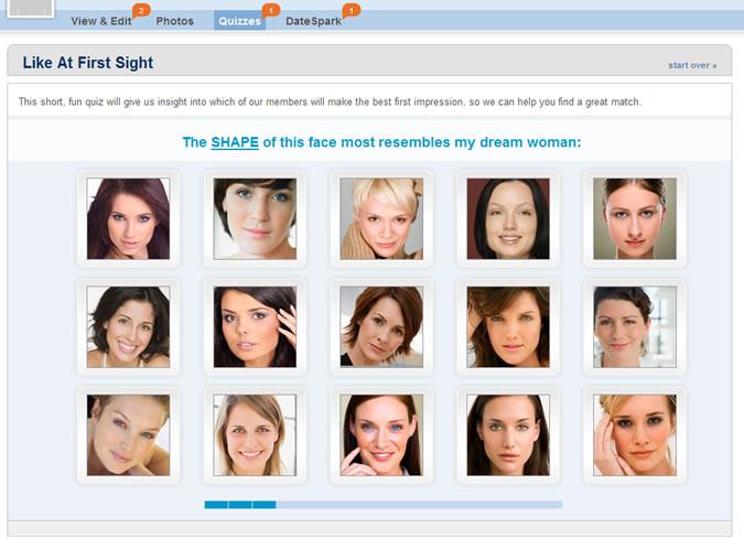 Match.com Quiz: Attractive face shape
