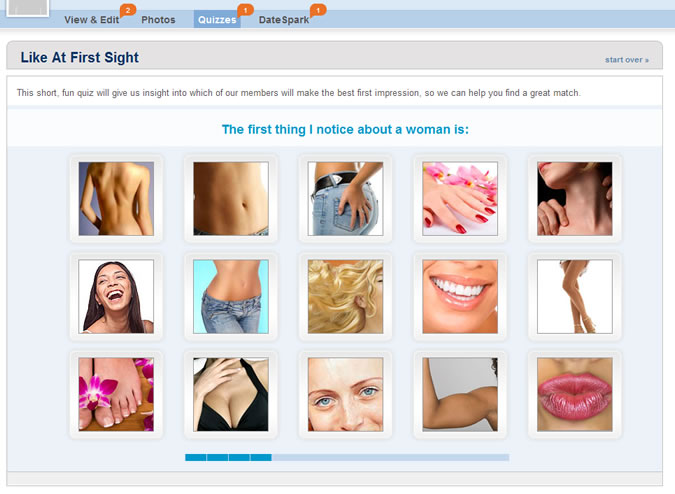 Match.com Quiz: Attractive body parts