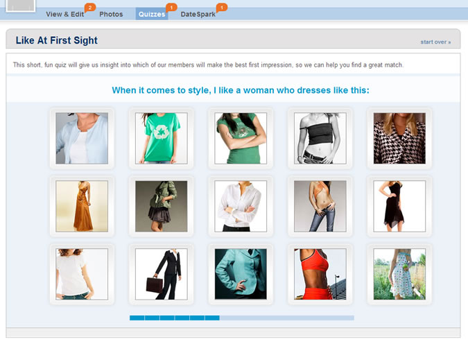 Match.com Quiz: Attractive clothing style